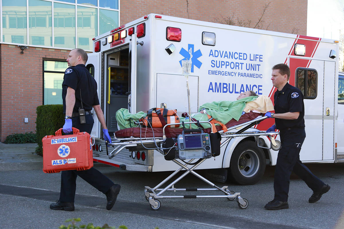 Ambulance crews have been busy with a record number of emergency overdose calls this Wednesday, April 21. (BC Emergency Health Services)