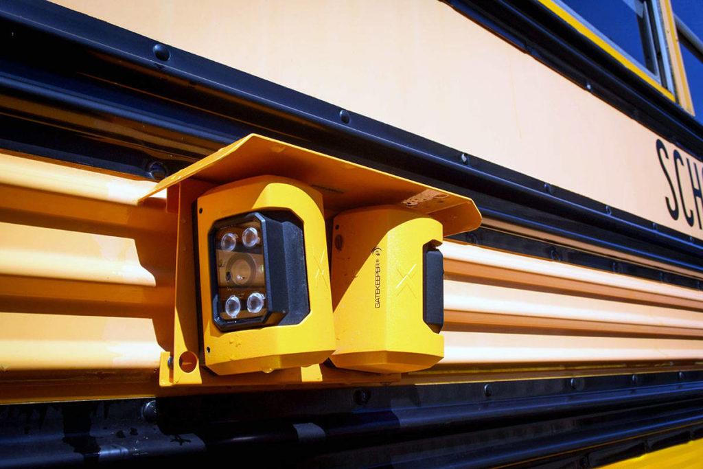 Cameras installed on school district buses. (Photo submitted)