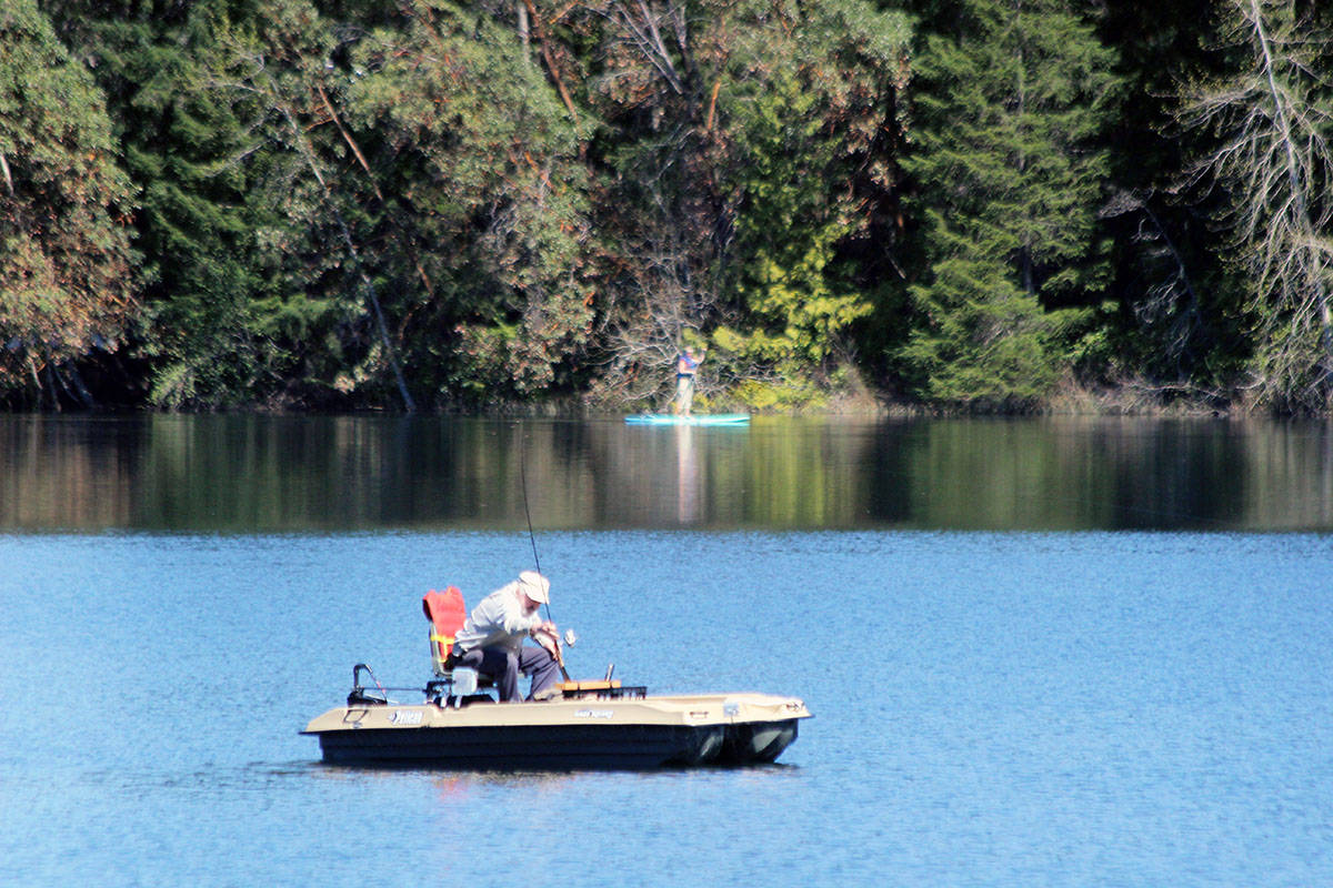 There's nothing like the sunny days we've been having to do a little fishing or paddle-boarding on Fuller Lake. (Photo by Don Bodger)