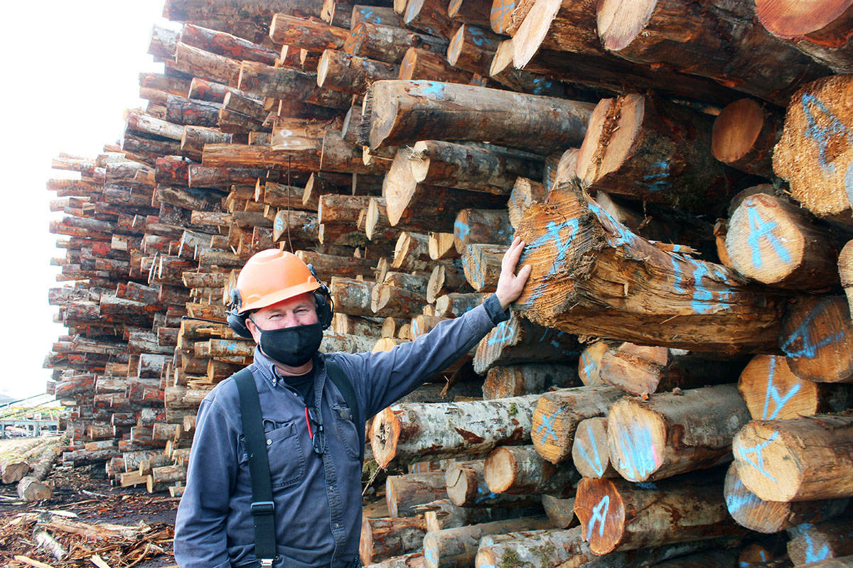 Paul Beltgens will never advocate for the export of raw logs under any circumstances. (Photo by Don Bodger)