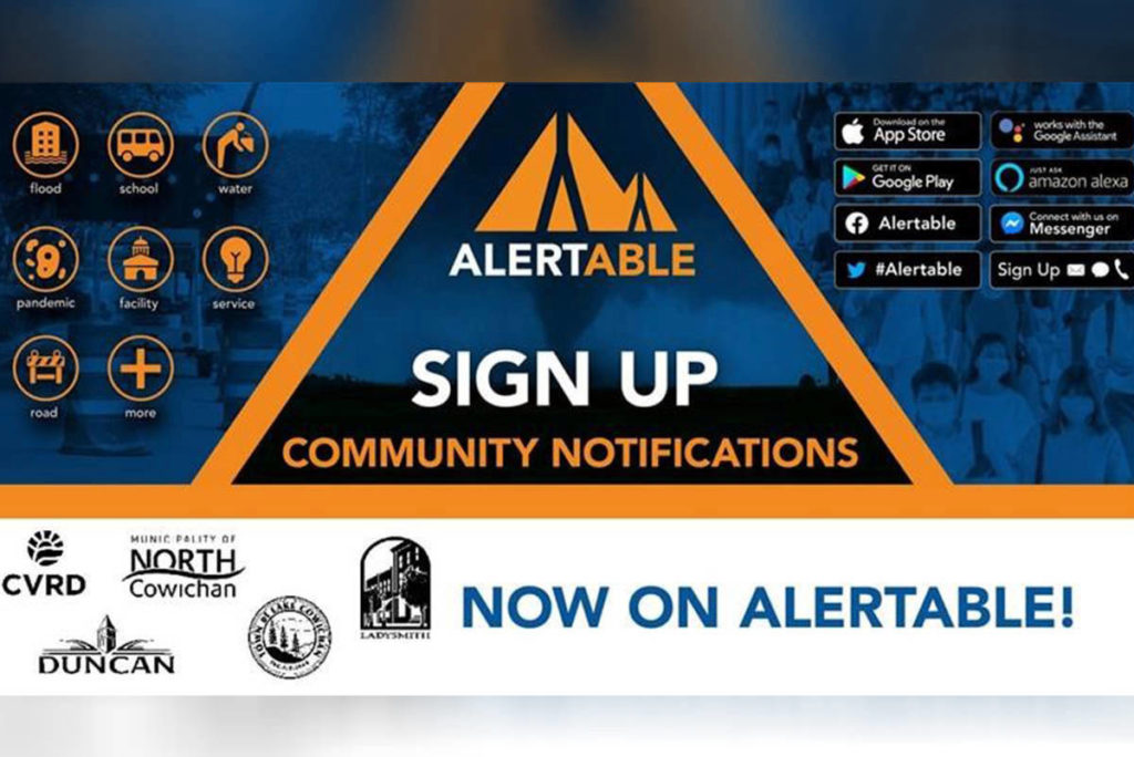 The Cowichan Valley Regional District introduces a new app to contact residents during emergencies. (CVRD photo)