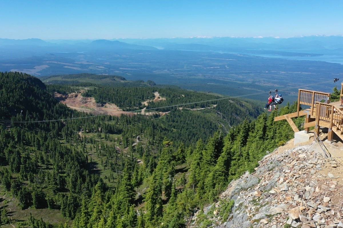 Ziplining offers panoramic views from the top of the mountain. Photo supplied