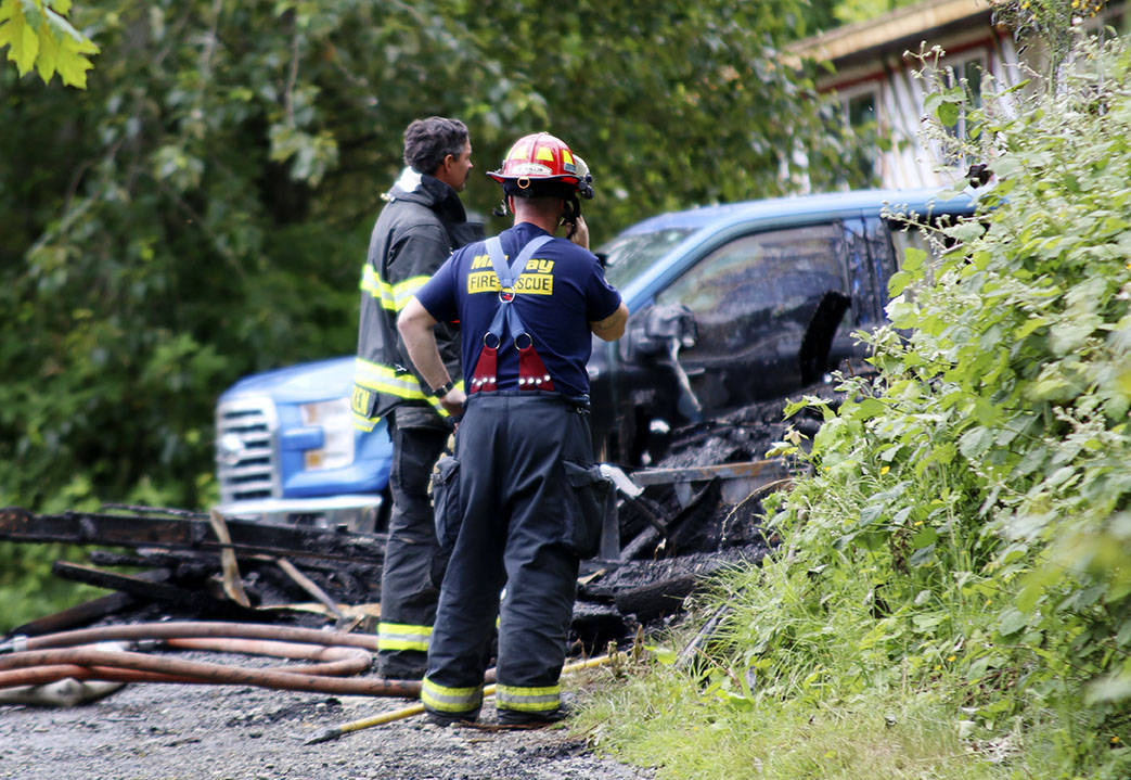 A young woman is believed to have died in a fire on the Malahat Nation reserve early Thursday morning. (Kevin Rothbauer/Citizen)