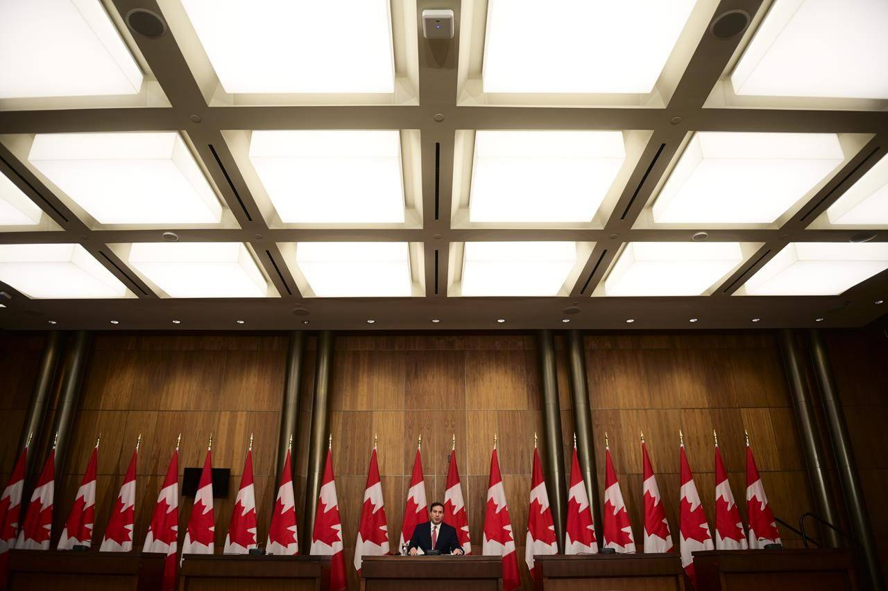Citizenship Minister Marco Mendicino holds a press conference in Ottawa on Thursday, Nov. 12, 2020. The federal government is announcing that Indigenous people can now apply to reclaim their names on passports and other government documents. THE CANADIAN PRESS/Sean Kilpatrick