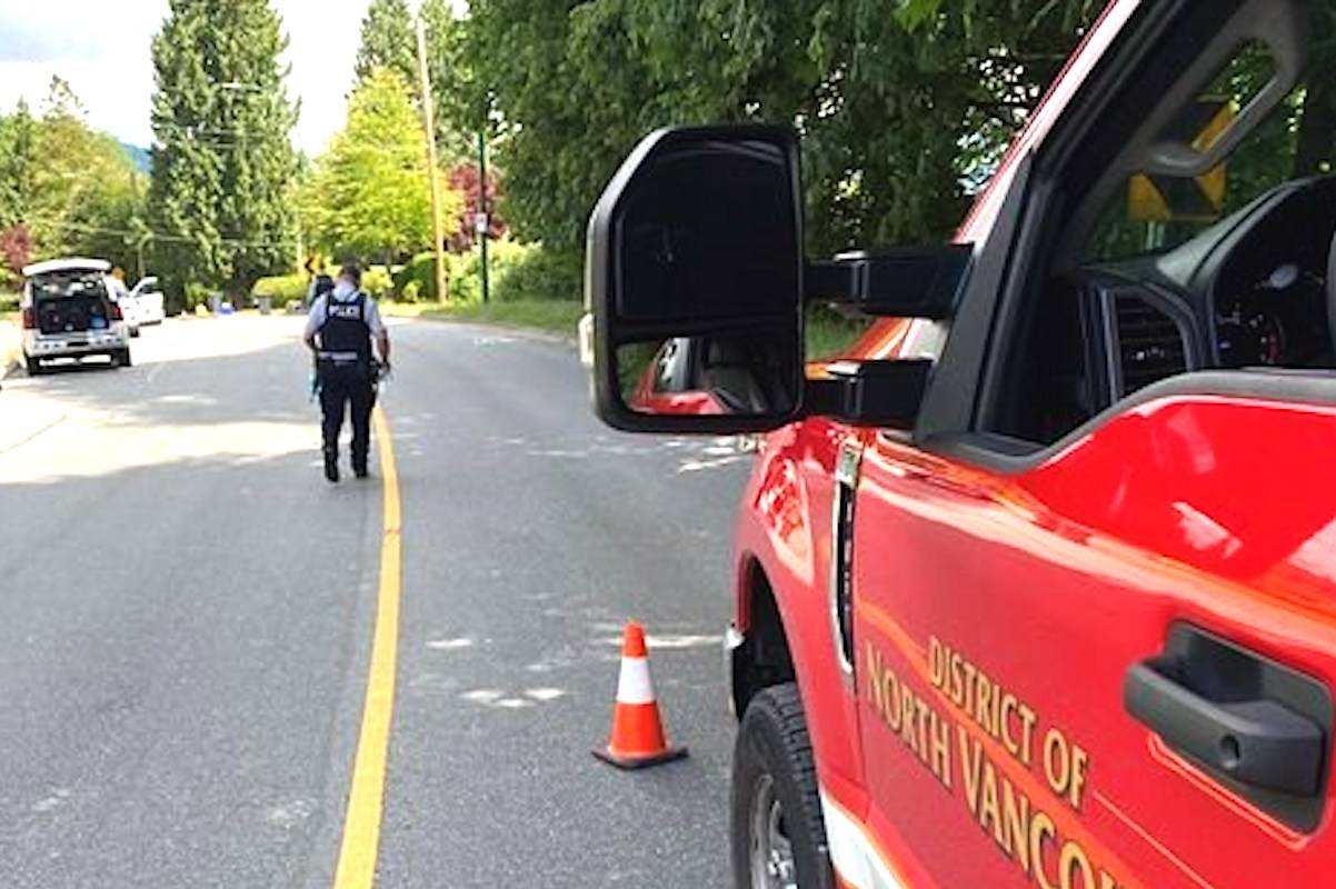 Canadian Armed Forces experts are on their way to North Vancouver after a local homeowner expressed worry about a military artifact he recently purchased. (Twitter DNV Fire and Rescue)