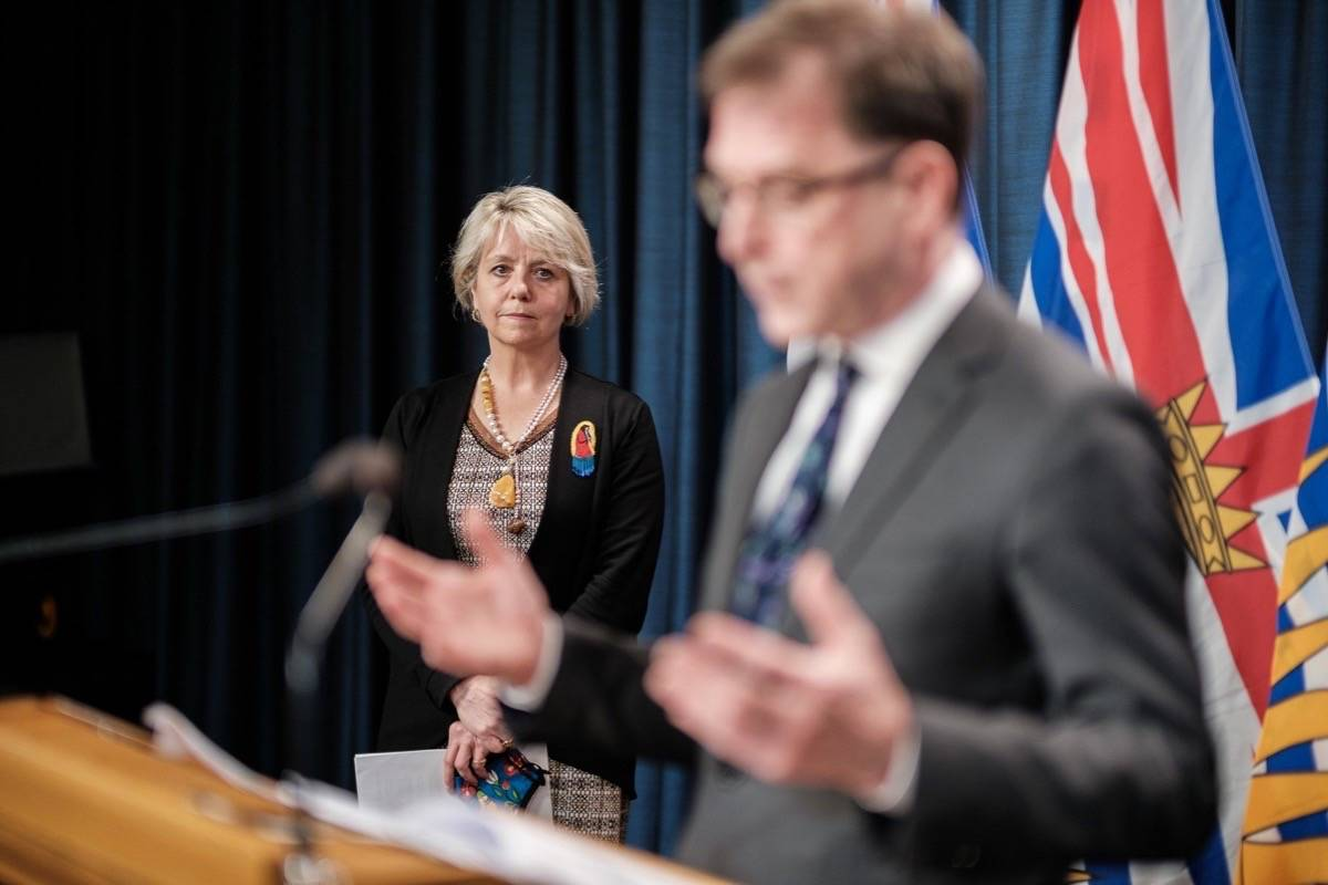 B.C. Health Minister Adrian Dix and provincial health officer Dr. Bonnie Henry update the province's COVID-19 vaccine program, May 10, 2021. (B.C. government)