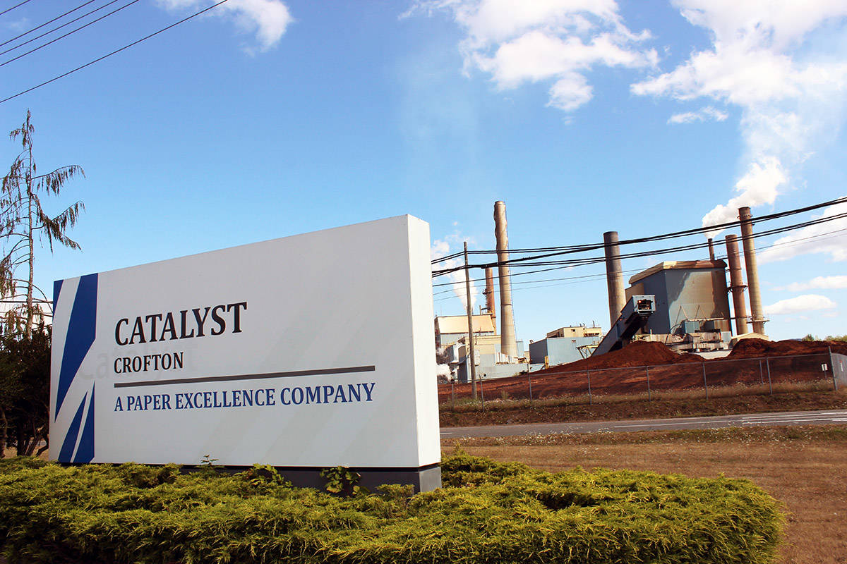 A fire at the Paper Excellence Crofton mill was contained as of late Wednesday night. (File photo by Don Bodger)