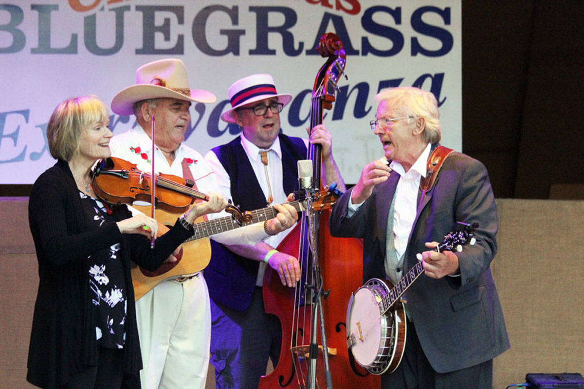 Bluegrass Fever on stage at Waterwheel Park. (File photo by Don Bodger)