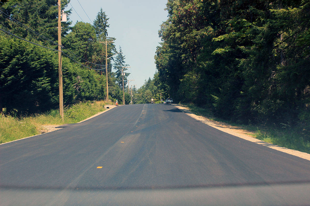 Newly-paved section of Crofton Road. (Photo by Don Bodger)