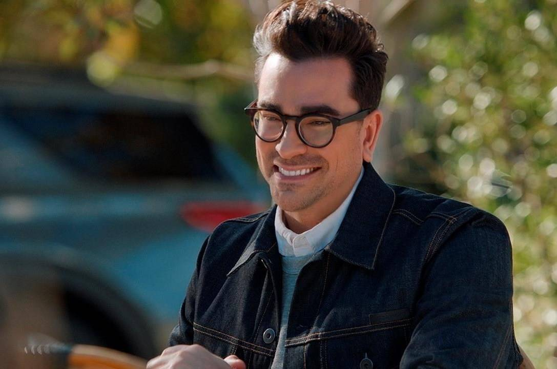 """This photo provided by M&M's shows a scene from M&M's 2021 Super Bowl NFL football spot featuring Dan Levy. Levy's enthusiastic turn as host of """"Saturday Night Live"""" has landed him another Emmy Award nomination. THE CANADIAN PRESS/HO-M&M's via AP"""