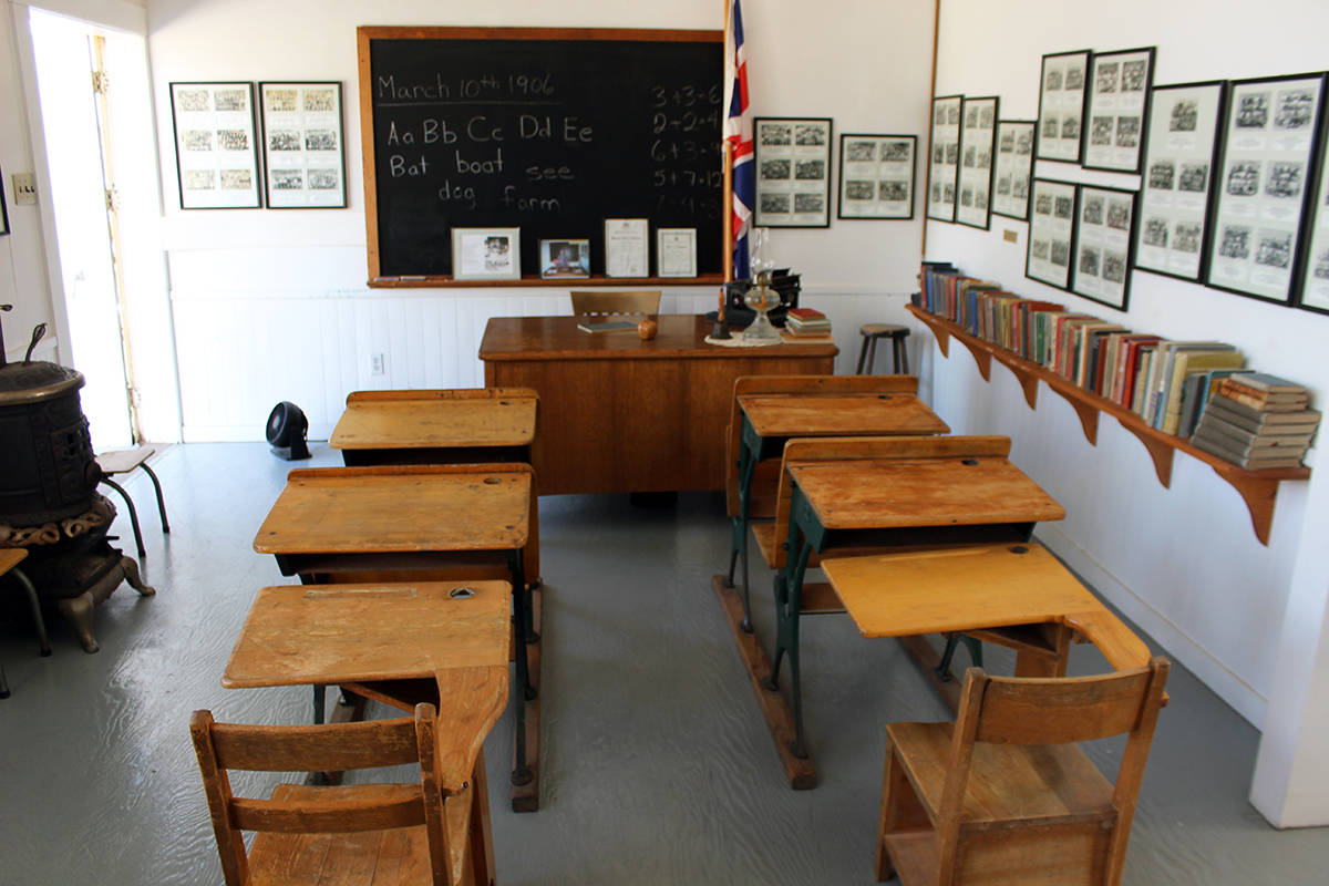 A classroom setting inside the Crofton Old School Museum. (Photo by Don Bodger)