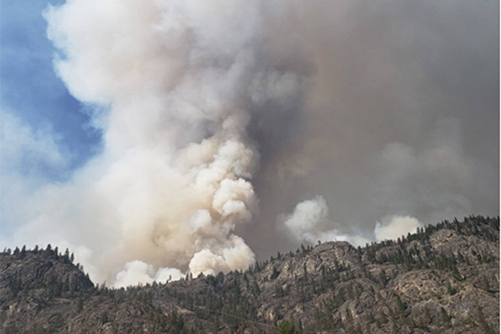 The Nk'Mip Creek Wildfire is over 6,500 hectares and growing. (BC Wildfire Service Twitter)