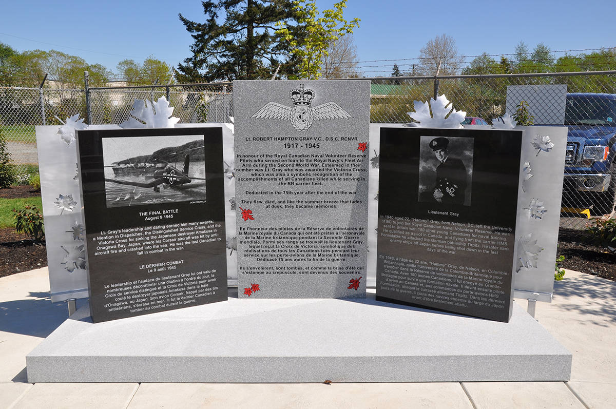 Originally set to be unveiled in 2020, a monument honouring the only B.C. pilot and the last Canadian to be awarded the Victoria Cross will be unveiled Sunday (Aug. 8) in North Saanich. (Courtesy BC Aviation Museum)