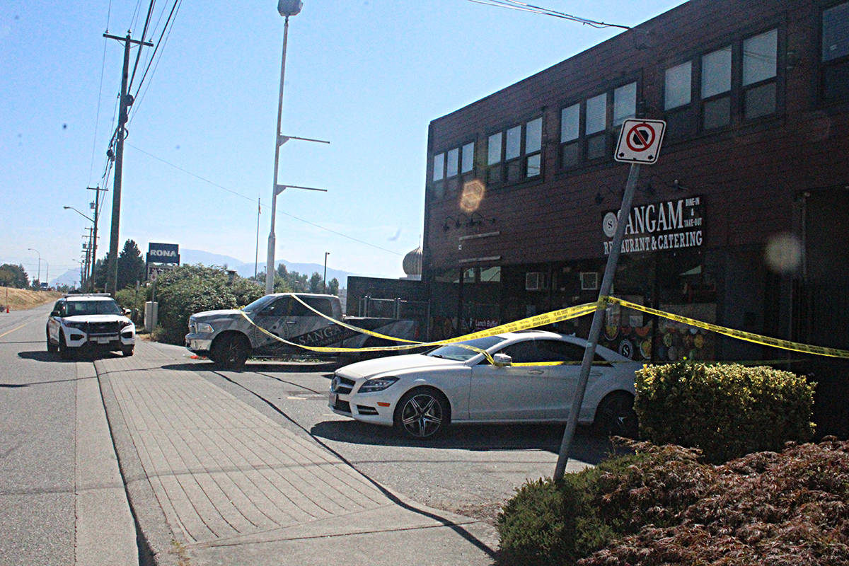 The explosion is being investigated by the Mission RCMP's serious crime unit and forensic teams and the Lower Mainland RCMP's explosive disposal unit. Police say it's too early to say if the restaurant was targeted. Patrick Penner photo.