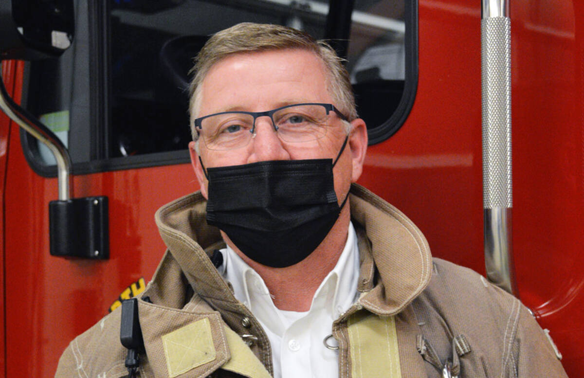 Chemainus Fire Department Chief Al Irwin. (Photo by Malcolm Chalmers Photography)