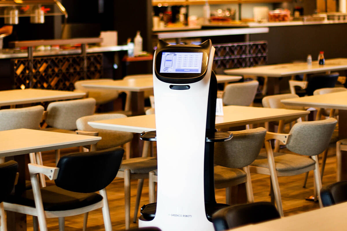 A robot helps out at Driftwood Restaurant, where it transports takeout orders from the kitchen to the front doors. (Photo submitted)